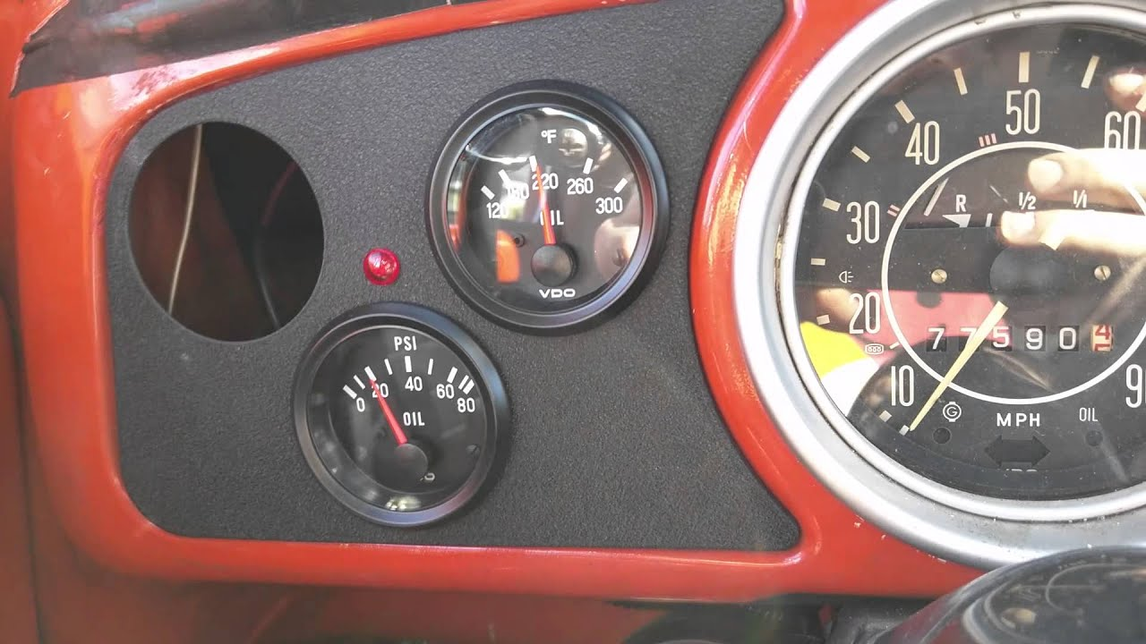 small resolution of new vdo gauges in my super beetle
