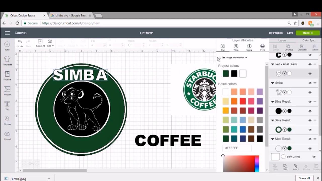 Cricut Starbucks Inspired Diy Coffee Mug Disney Logo Lion King Tutorial Video Youtube