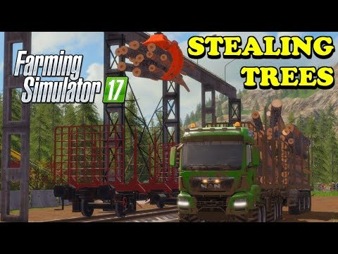 Farming Simulator 17 | The Abandoned Forest | Timelapse | Episode 14 | STEALING TREES thumbnail