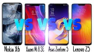 Nokia X6 vs Xiaomi Mi 8 SE VS Asus Zenfone 5 vs Lenovo Z5 Comparison Top 4 Upcoming smartphone🔥🔥🔥