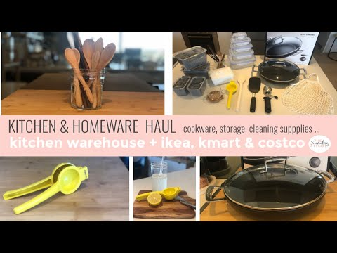 KITCHEN & HOMEWARES HAUL - IKEA, COSTCO, KMART & KITCHEN WAREHOUSE || THE SUNDAY STYLIST