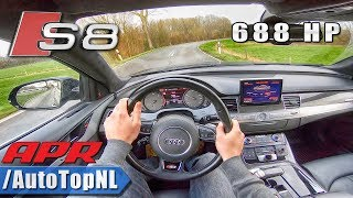 688HP AUDI S8 4.0 TFSI V8 APR Tuned POV Test Drive by AutoTopNL
