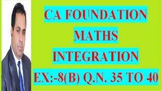 CA FOUNDATION COURSE  BUSINESS MATH TYPES OF INTEGRATION CLASS 9 BY H L GUPTA