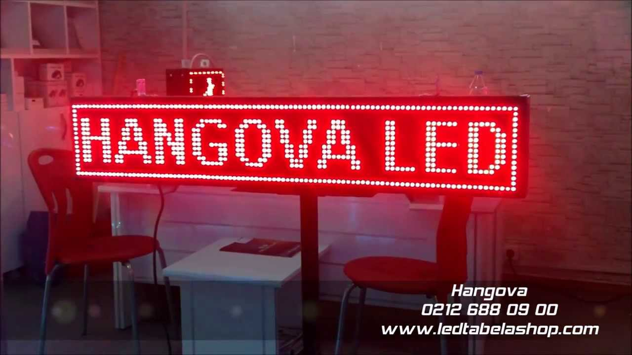 Hangova Led Kayan Yazı - Led Tabela Shop