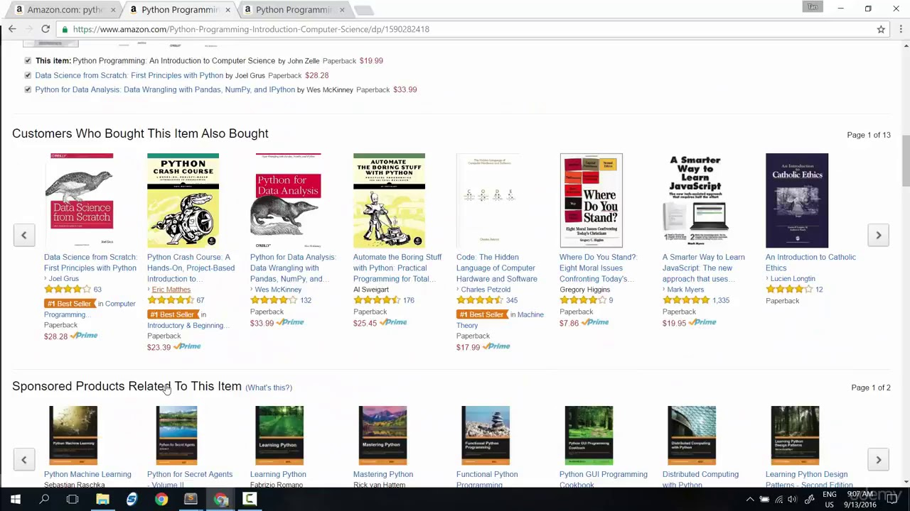 041 Project part scrape python books list on one page search do coding