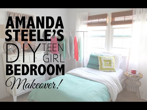 DIY Teen Girl Bedroom Makeover with Amanda Steele