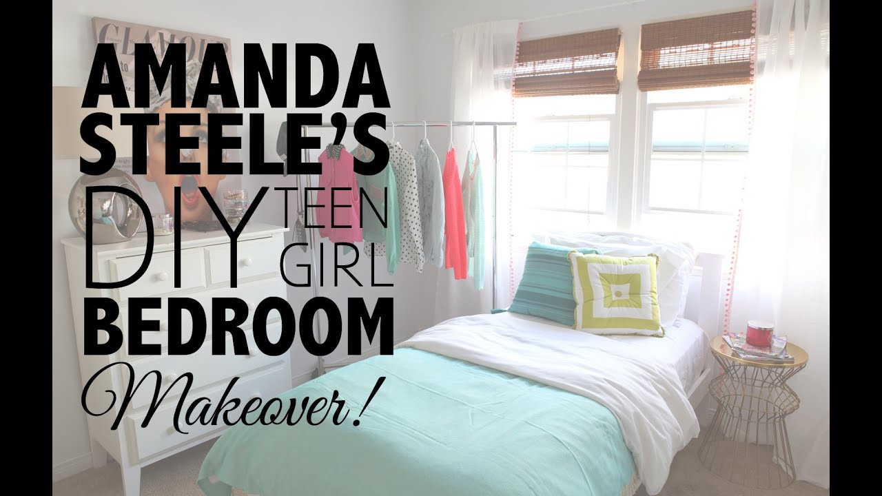 Teenage Girl Bedroom Diy Teen Girl Bedroom Makeover With Amanda Steele  Youtube