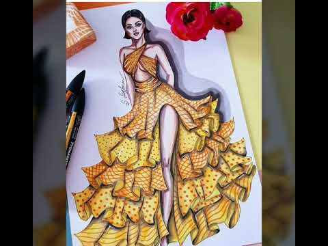 Creative Dress Designing Ideas Fashion Illustration Youtube