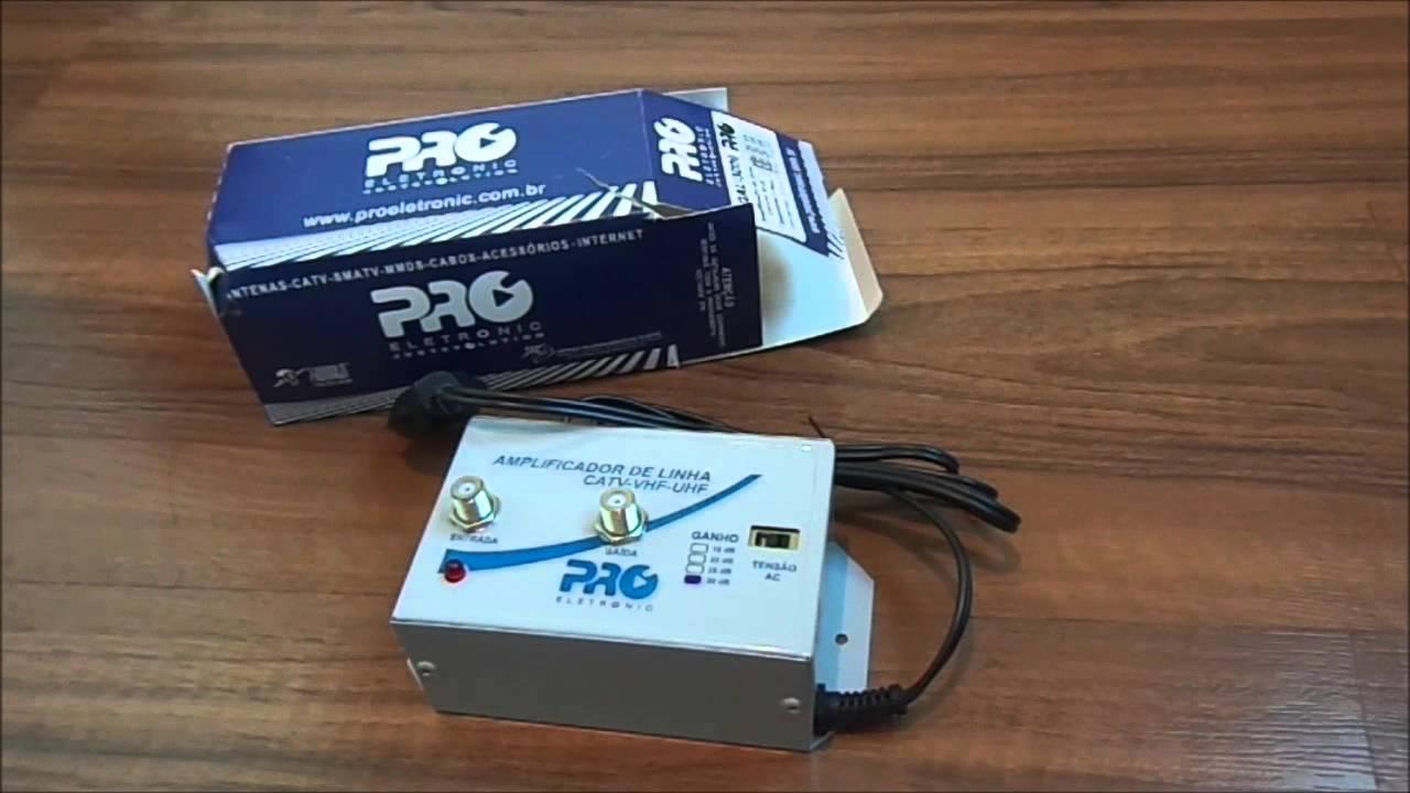 7084eb476 Teste do Amplificador VHF/UHF ProEletronic PQAL-3000 - YouTube