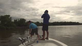 Catching redfish down in the Chatum River, Everglades City, FL