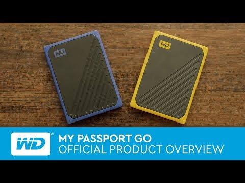 【易霖-行動固態硬碟】WD My Passport Go 2TB(琥珀黃/深藍) 外接式固態硬碟