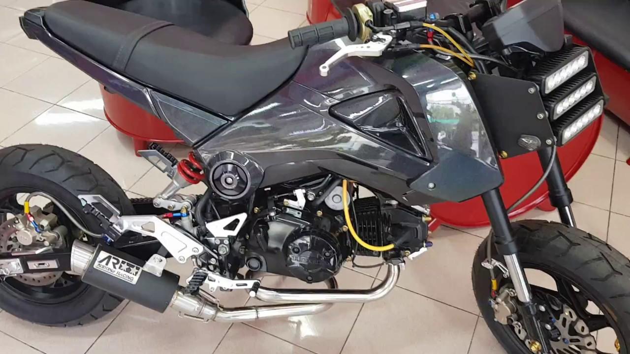 Honda Grom MSX125 Aodonly Racing Loop Low Mount Exhaust