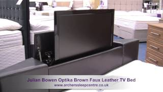 Julian Bowen Optika Brown Faux Leather Tv Bed