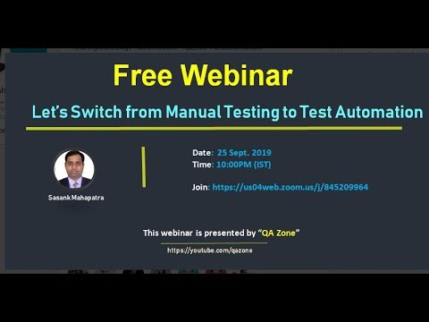 Let's Switch From Manual Testing To Test Automation
