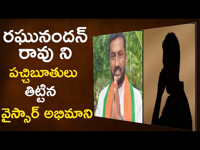 Phone Call Leak Raghunandan Rao Comments on YSR || PJNEWS