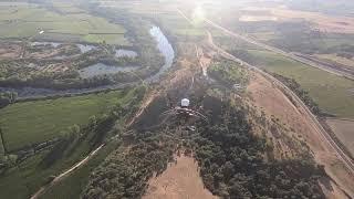 Volando desde Coria hasta la Puebla de Argeme en el Valle del Alagón 16-07-2020