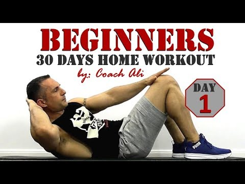 BEGINNERS Home Workout Day 1 of 30. Full Body Workout For Newbies By Coach Ali