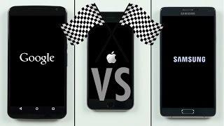 Nexus 6 vs. iPhone 6 vs. Note 4 Speed Test