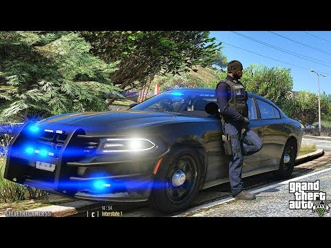 GTA 5 MODS LSPDFR 1028 - CITY UNMARKED CHARGER PATROL!!! (GTA 5 REAL LIFE PC MOD)
