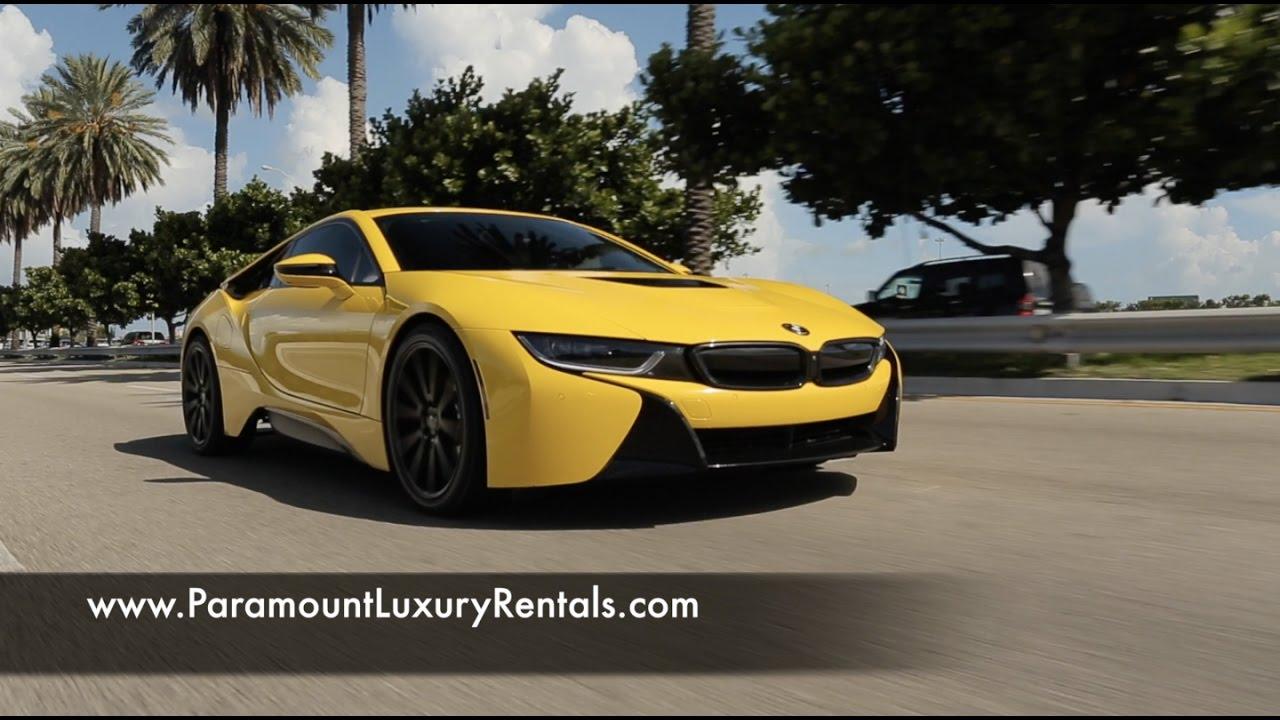 Black And Yellow Bmw I8 In Miami Beach Paramount Luxury Rentals
