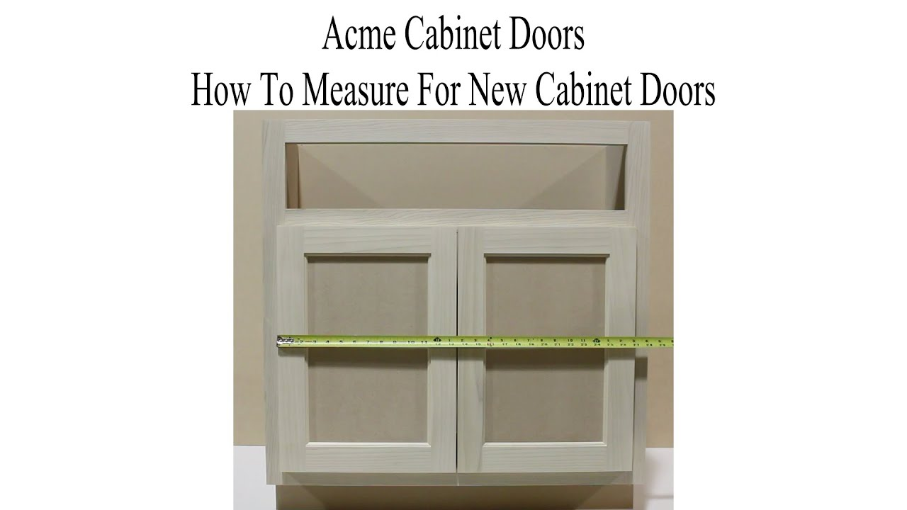 How To Measure For New Kitchen Cabinet Doors Youtube