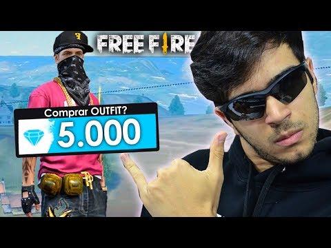 GASTEI 5 MIL DIAMANTES NO NOVO OUTFIT DO FREE FIRE!!