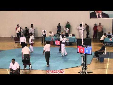 59kg Kaan Gokbug Sanli vs Alpay Ozturk (Turkish Junior TKD Championships 2015)