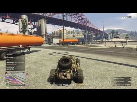 GTA GUNRUNNING DLC - Sell Stock / Weapons from the Bunker
