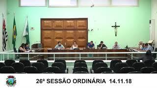 Sessão da Câmara  14.11.18