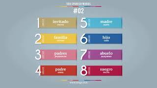 #02 - Испанский язык - 400 слов. Изучаем испанский язык самостоятельно.