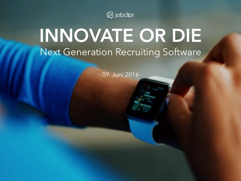 jobclipr WebCo: Innovate or Die: Next Generation Recruiting Software
