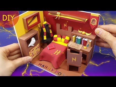 [Diy miniature Harry Potter room] 해리포터 소품들이 한가득!! 미니어쳐 해리포터 방을 만들어 봅시다