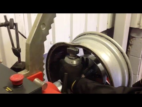 Buckled alloy wheel repair