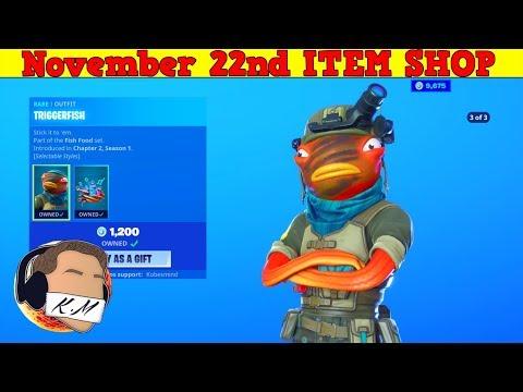 Fortnite Item Shop (November 22nd) | *NEW* TRIGGERFISH SKIN!