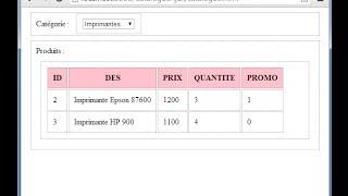TUTO AJAX avec JQUERY  PHP HTML CSS DWM ENSET M YOUSSFI