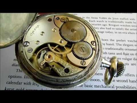 Omega Grand Prix Paris 1900 pocket watch 0,800 silver