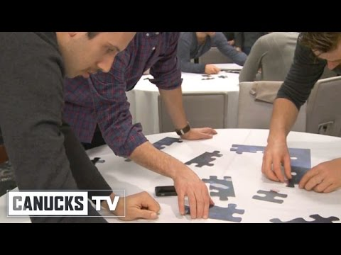 Canucks Team Building Puzzle Exercise - YouTube
