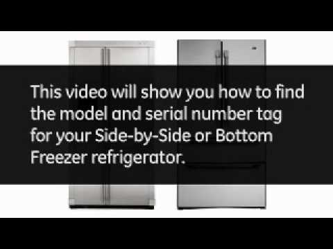Find your Refrigerator Model and Serial Number (SxS, BM)