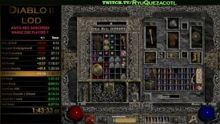 RyuQuezacotl - Diablo II Any% Hell HC Sorceress Highlights 21 08 2016