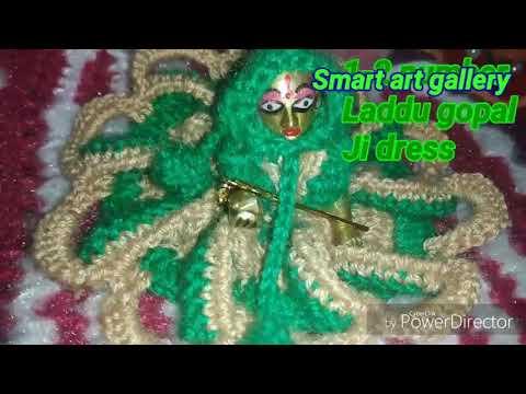 Barbie Frill looking crochet dress size 1-2-3 number Laddu gopal Ji