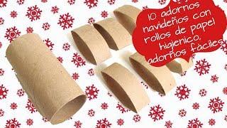 Gambar cover 10 ADORNOS NAVIDEÑOS CON ROLLOS DE PAPEL HIGIENICOS. ADORNOS NAVIDEÑOS FACILES