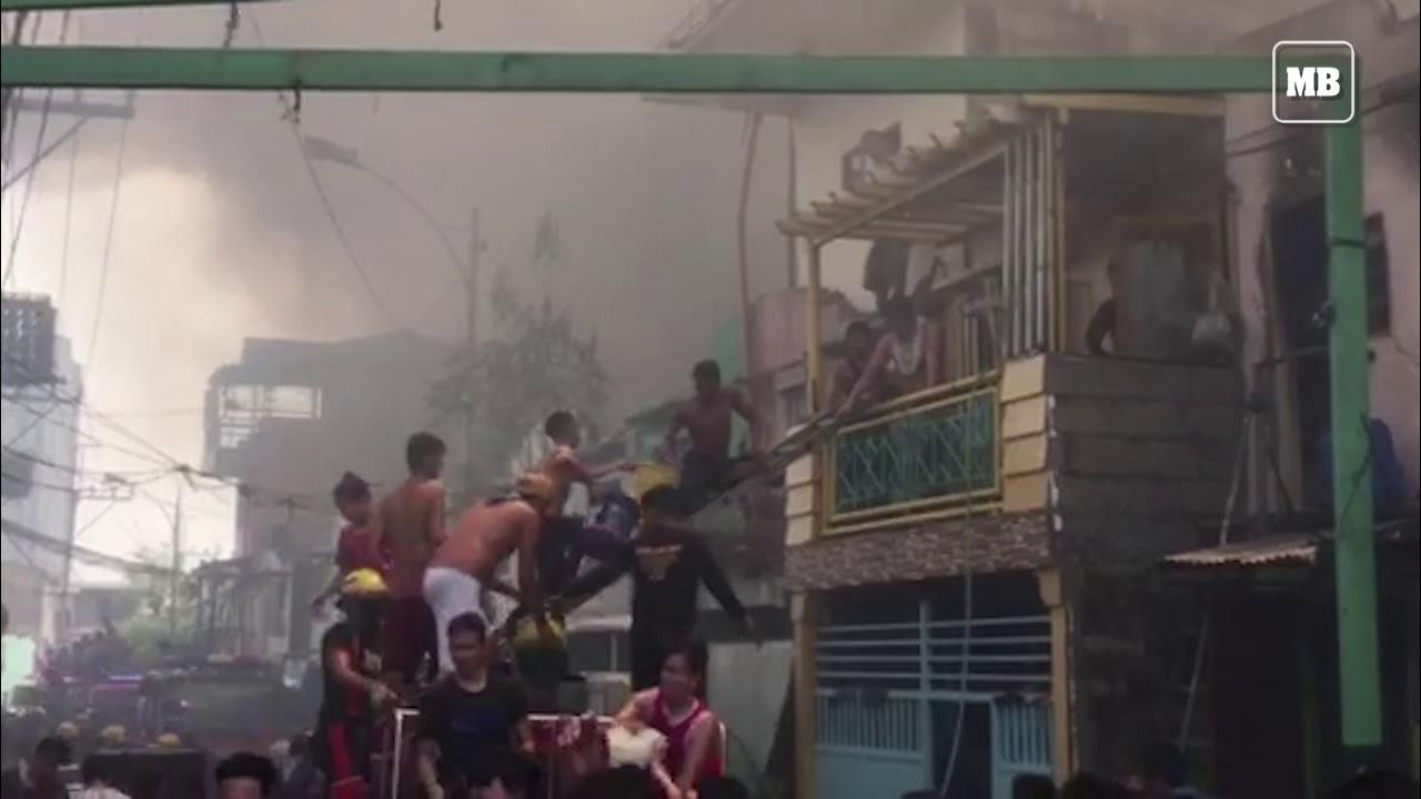 Fire razes a residential area in Brgy. Baesa, Quezon City