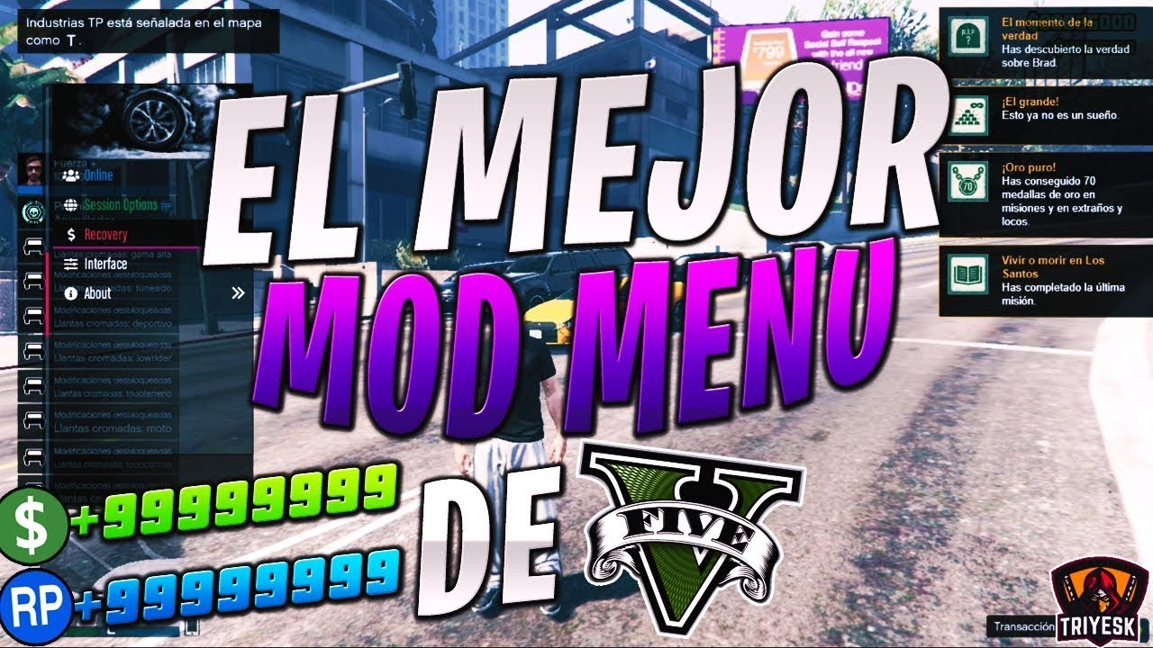 EL MEJOR MOD MENU DE GTA 5 ONLINE - Como lo Uso - Mod menu disturbed