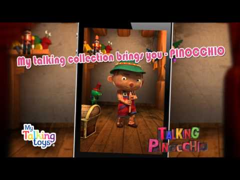Talking Pinocchio for IPhone, iPad & Google Play!