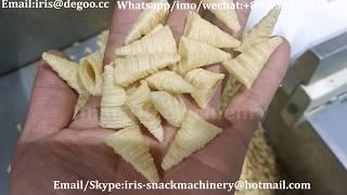 Jinan DG crispy bugle cone snack food chips production line/making equipment