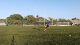Freestyle American Football No holder 35 yards both feet   Kiwi Kicker