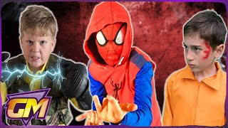 Spider-man Homecoming 2 - Scorpion and Shocker Vs Spiderman  - Fun Kids Parody