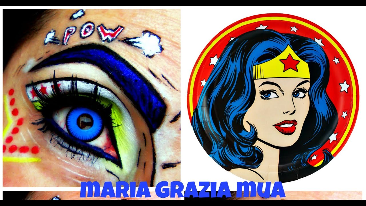 Pop Art Makeup Wonder Woman - Mugeek Vidalondon