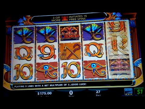 Cleopatra Slot Machine $27 Bet - High Limit Live Play! - 동영상