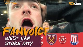 Carroll late goal saves a point for the Hammers! | West Ham 1-1 Stoke | 90min Fanvoice